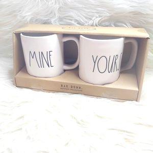 Rae Dunn Mine Yours New In Box Mugs Artisan